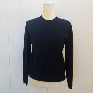 Brooks Brothers black wool sweater size small